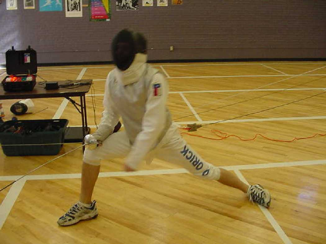 Daniel Orick C01 in Foil, E01 in Epee. Fences with Amarillo College and Fannin Middle School